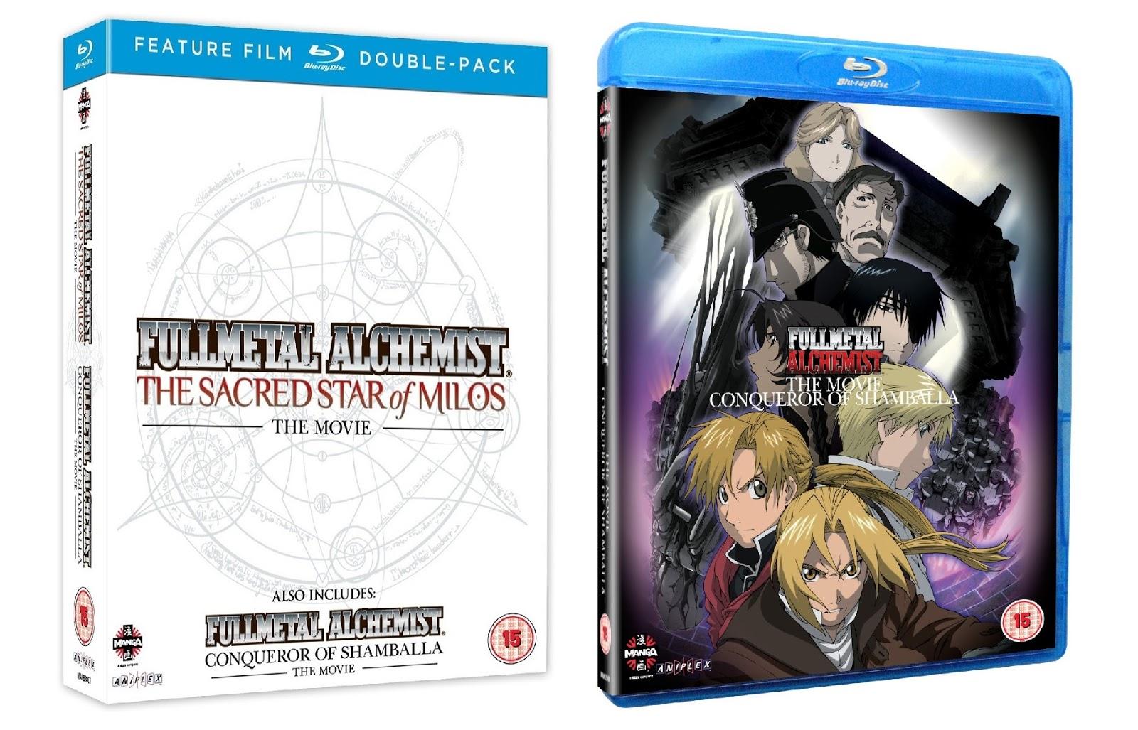Anime on Blu-ray!: Fullmetal Alchemist - The movies 1 & 2 Double Pack & Fullmetal Alchemist ...