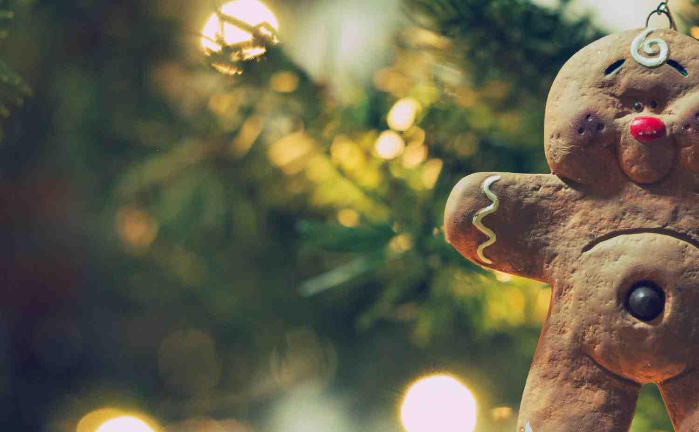 Christmas tree decoration gingerbread man