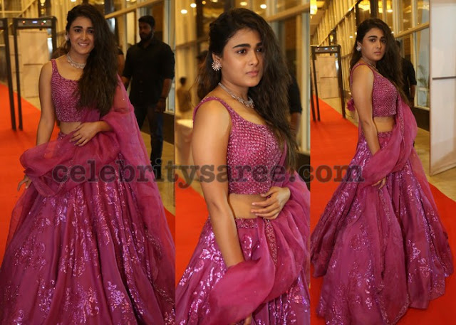 Shalini Pandey in Pink Shimmer Lehenga