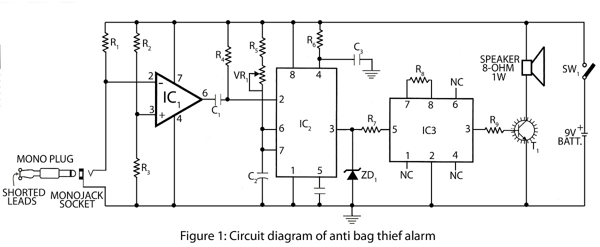 sound frequency meter circuit diagram