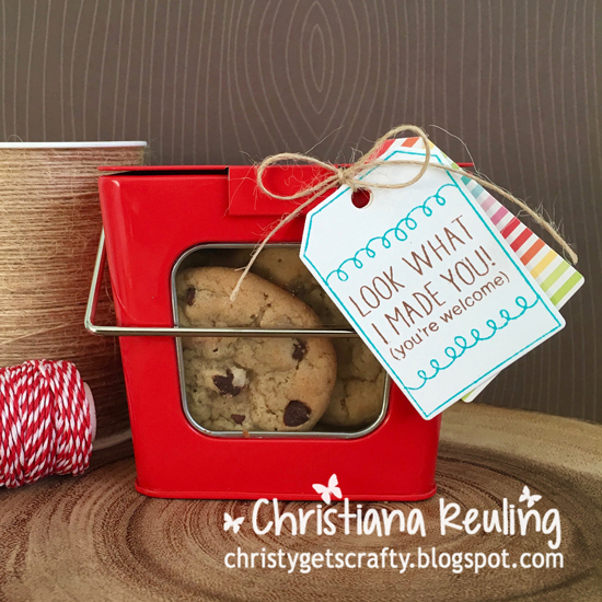 Cookie Treat Tag by Christiana Reuling | Tag Sampler stamp set by Newton's Nook Designs #newtonsnook