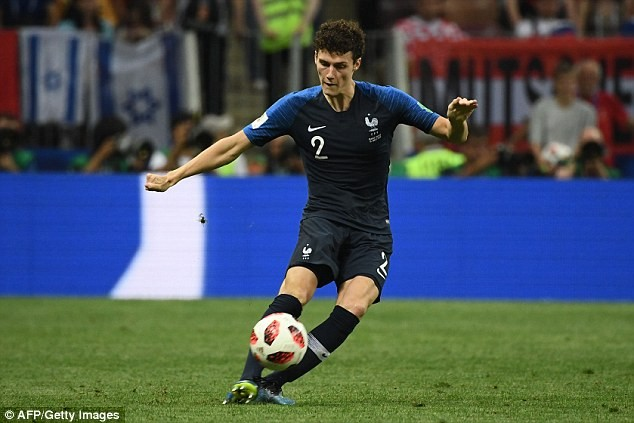 Video: France's Benjamin Pavard wins World Cup goal of the tournament for his stunning strike against Argentina