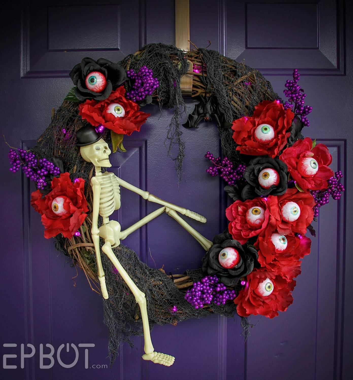 Epbot I Ve Got My Eyes On This Halloween Wreath Diy