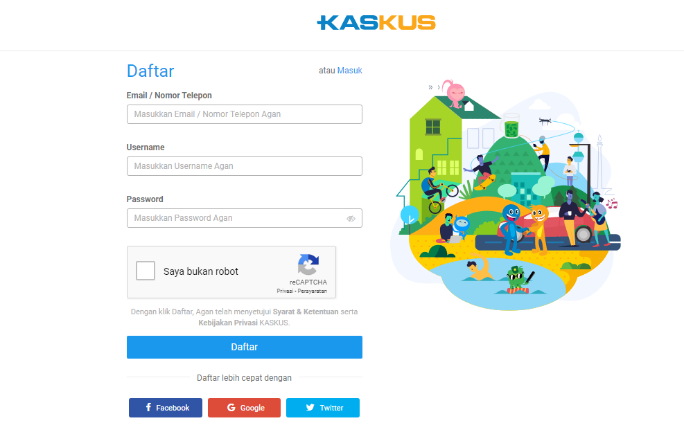 How to Register KASKUS