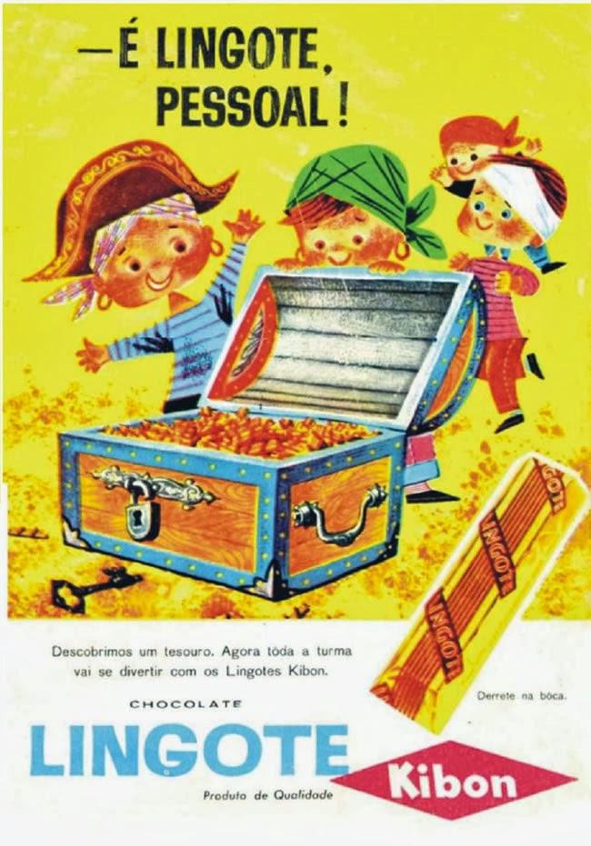 Sucesso nos anos 60, Chocolate Lingote da Kibon.