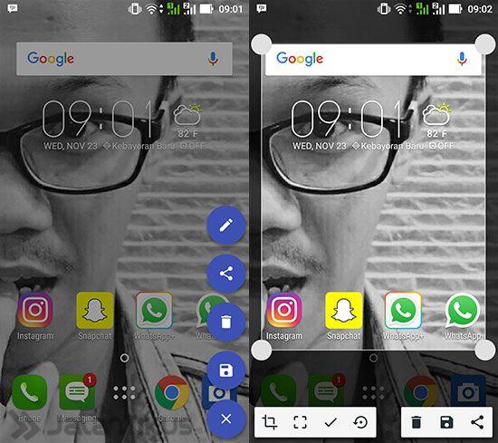 Cara Screenshot Sebagian Layar di Smartphone Android 5
