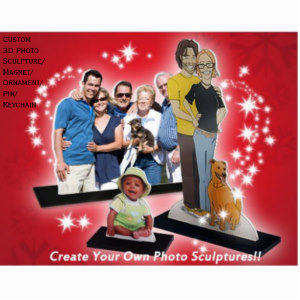 Custom 3D Photo Sculpture Christmas Ornament