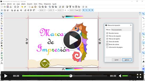 Generar Marcas de impresión en Inkscape