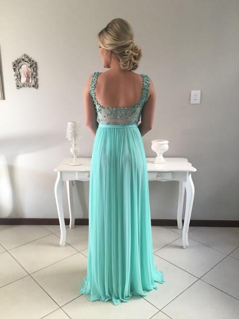 vestido de festa verde claro madrinha