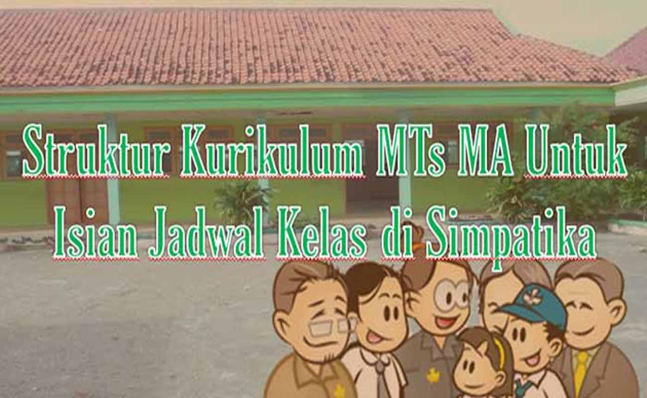 Struktur Kurikulum MTs MA Untuk Isian Jadwal Kelas di Simpatika