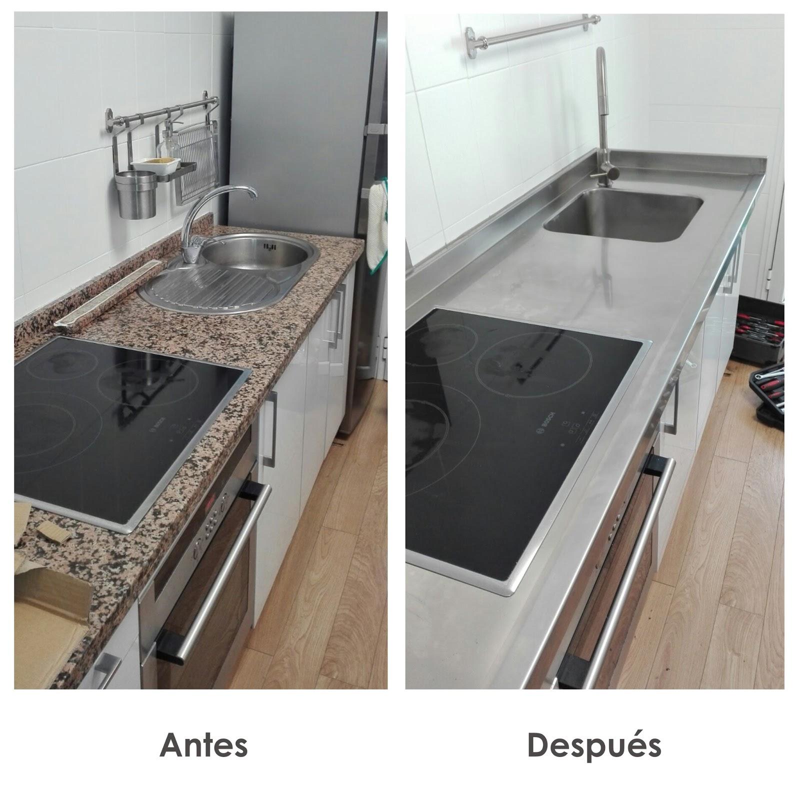 Acero inoxidable tenerife encimeras de acero inoxidable a medida tenerife - Medidas de encimeras de cocina ...