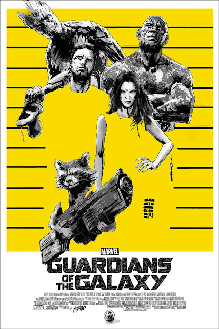 MondoCon 2016 Exclusive Marvel's Guardians of the Galaxy Movie Poster Screen Print by Jock x Mondo