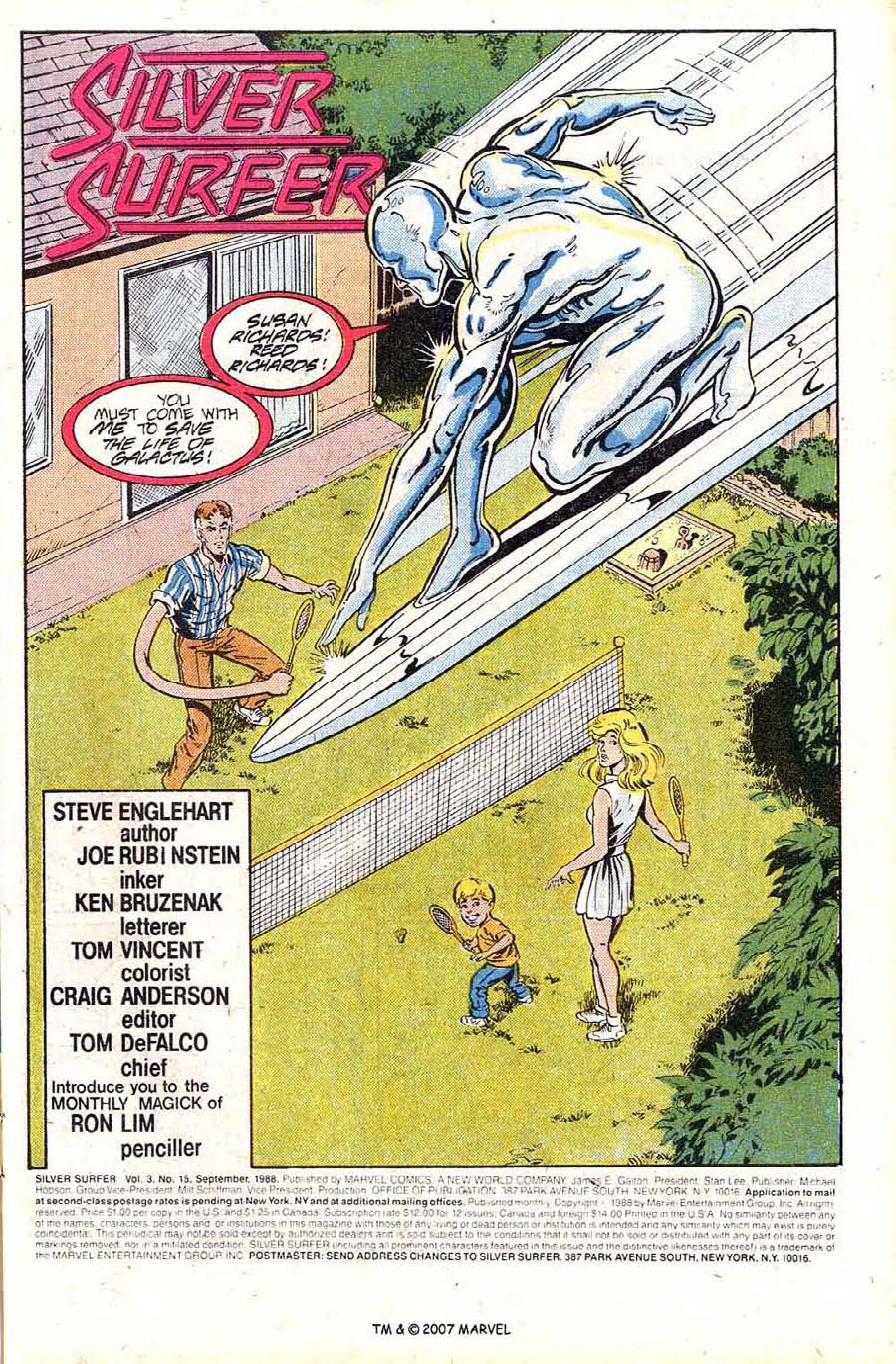 Read online Silver Surfer (1987) comic -  Issue #15 - 3