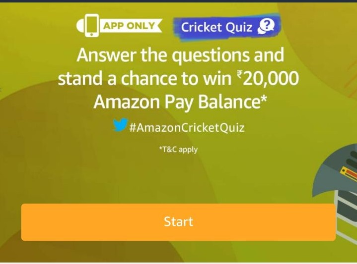 (All Answers) Amazon Cricket Quiz-Answer & Win Rs.20,000