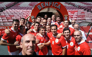 A selfie do Andebol do Benfica no Estádio de Luz