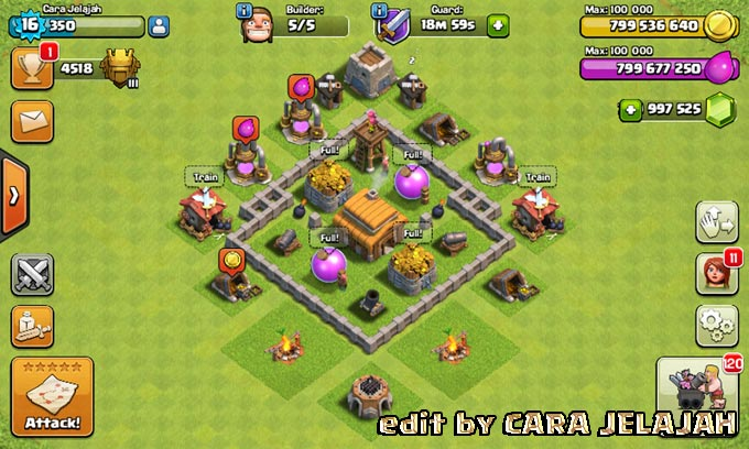Desain Base Hybrid Clash Of Clans Town Hall 3 Update Terbaru 3