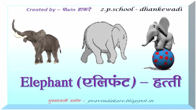 इंटरॅक्टिव्ह व्हिडिओ-जंगली प्राणी ओळख with spelling and animated effect