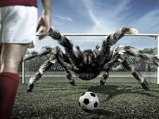 Amazing spider playing soccer wallpapers