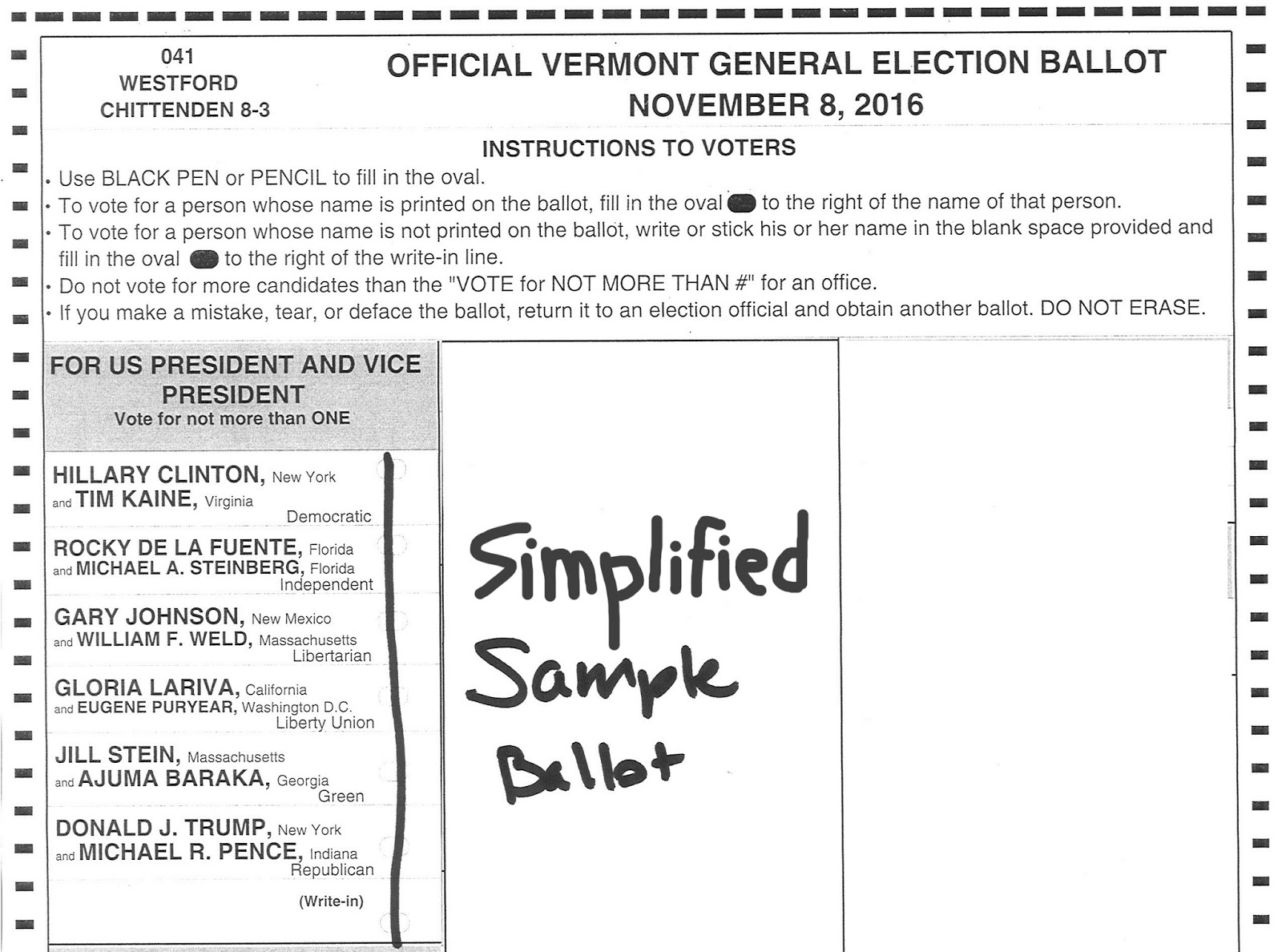 a ballot vote is the piece of paper or electronic document where a registered voter checks a box stating who they want as president and vice president