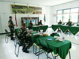 Tim Wasev Mabes TNI Tinjau Latihan Pratugas Yon Mekanis 643/WNS