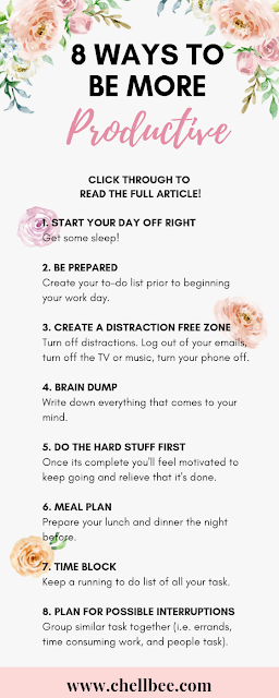 Productive Tips | Discover how these 8 simple tips can change your time management skills. These tips are easy and quick to implement. #productive #organize #planning