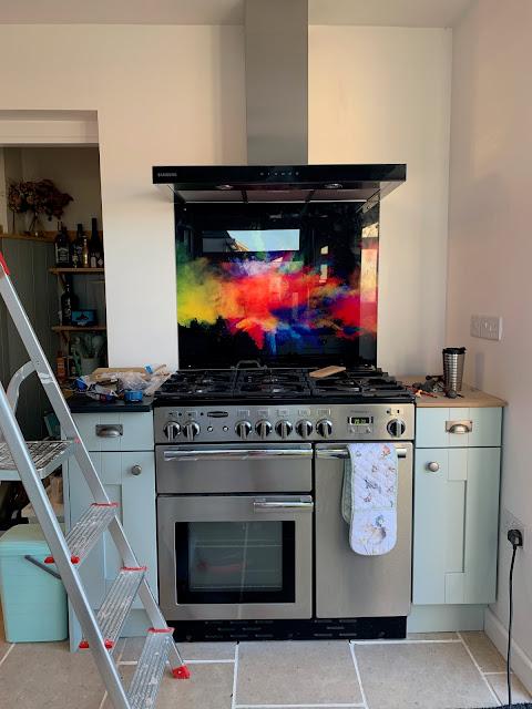 Premier Range Glass Splashback in Kitchen