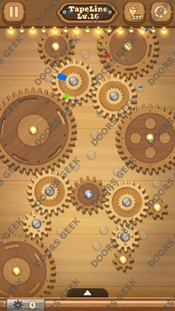 Fix it: Gear Puzzle [TapeLine] Level 16 Solution, Cheats, Walkthrough for Android, iPhone, iPad and iPod