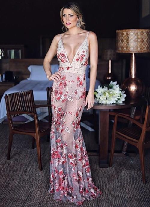 vestido de festa hot pant