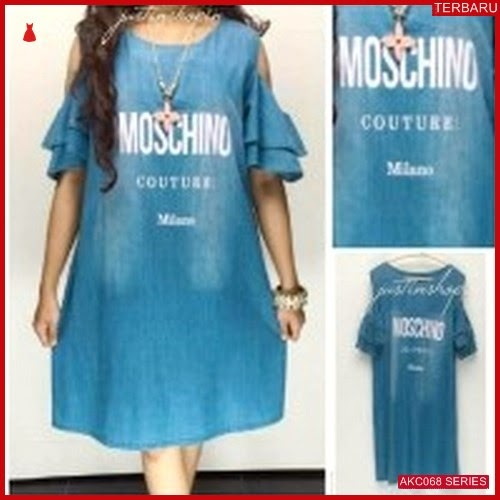 AKC068D14 Dress Wanita Jeans Anak 068D14 Dress Dress BMGShop