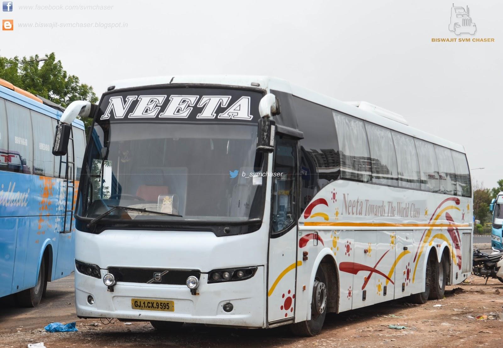 Biswajit SVM Chaser: Neeta VOLVO B9R Multiaxle Semi Sleeper GJ1 CX