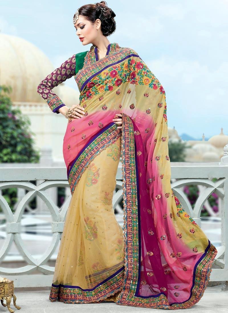 Saree World: Wedding Party Wear Saree's
