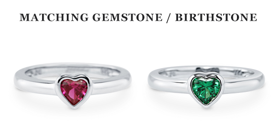 birthstone promise rings from Berricle