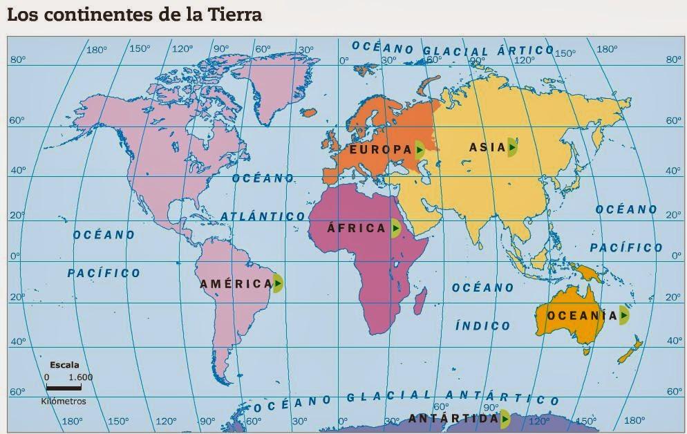 Cuales Son Los 6 Continentes Del Planisferio: NUESTRO BLOG: INFORMACIÓN Y ACTIVIDADES PLANISFERIO