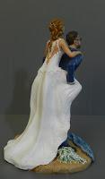 cake topper spiritosi tema mare statuette sposi torta top cake orme magiche
