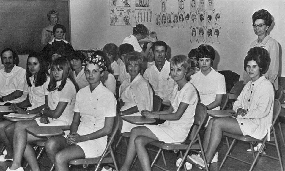 Vintage Photos of School Girls in Uniform Miniskirt