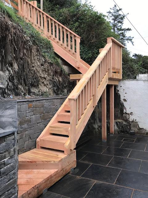 Douglas fir staircase