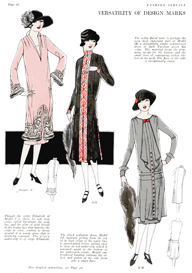 long sleeved dresses daytime mode for winter 1925 1926