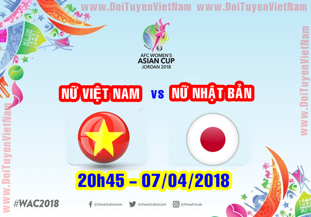 [Live] Japan W - Vietnam W - ASIA: Asian Cup Women 2018 (07/04/2018)