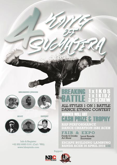 Project : Hip Hop Event Brochure Design - King of Sumatera