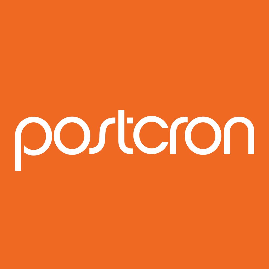 Postcron logo.