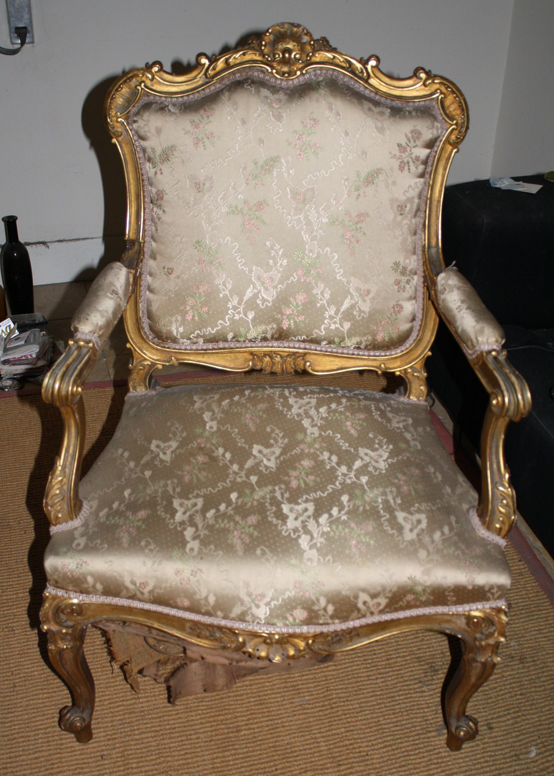 Restaurata restauraci n de dorados un saloncito luis xv - Restauracion de sillas ...