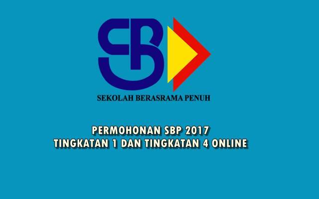 permohonan sbp 2017 tingkatan 1 dan tingkatan 4 online