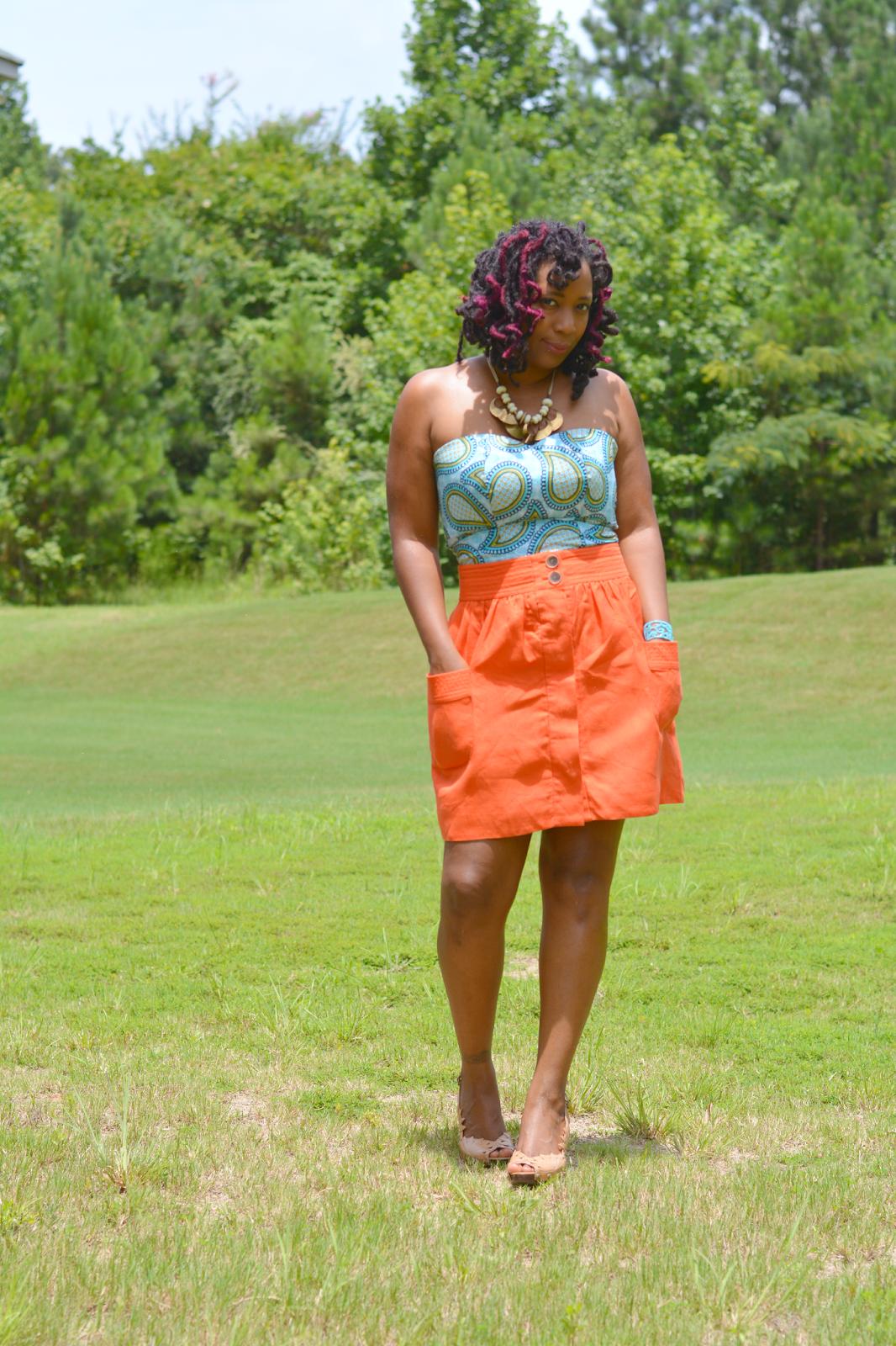 thrift store ankara print dresses