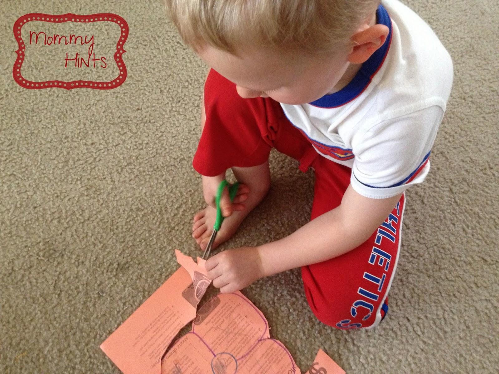 Mommy Hints Activities For Preschoolers Scissor Skills
