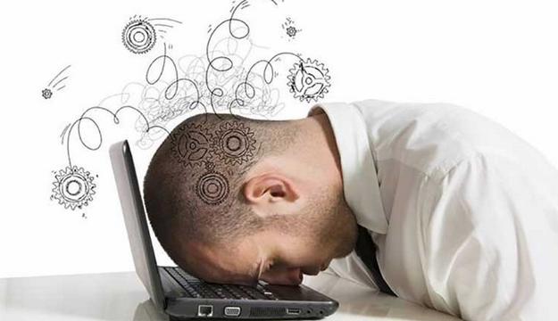 gambar orang stress berat jadi pusing