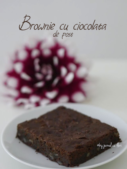 reteta brownie cu ciocolata si alune de post