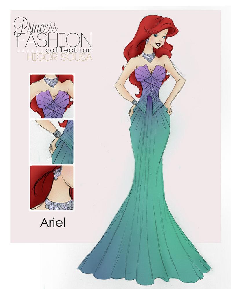 Disney Fashion For Everyone: Varietats: Princess Fashion Collection By Higor Sousa