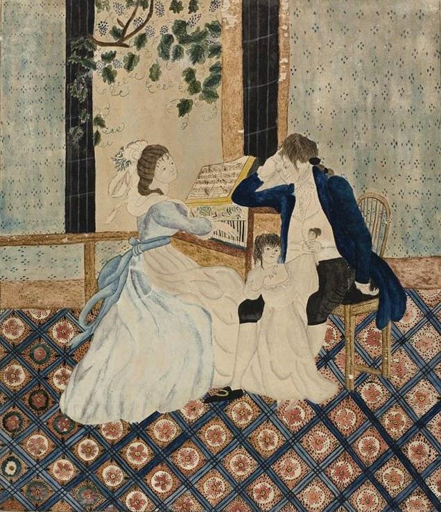 Family Group at Piano (1820), Eunie Pinney
