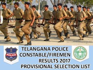 Telangana TS Police Constable Results 2017, TSLPRB Constable Result 2017, Telangana Police Constable Mains Result 2017
