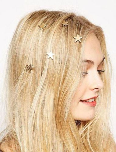 Gold Stars Hair Clips 5 Piece Set